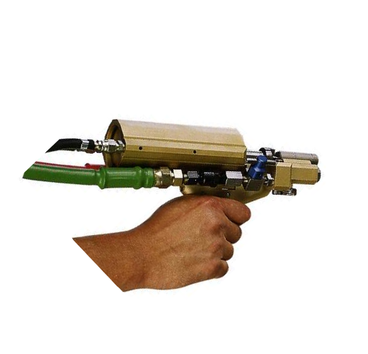 Zelfreinigende mengkamer in pistool